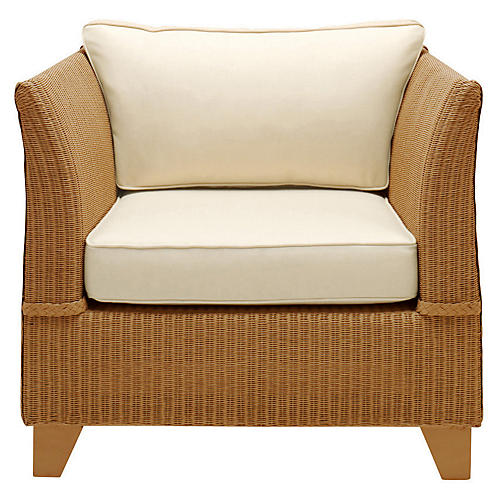Gondola Club Chair, Cream/Caramel