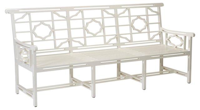 Balcony 3-Seat Sofa, Orchid White