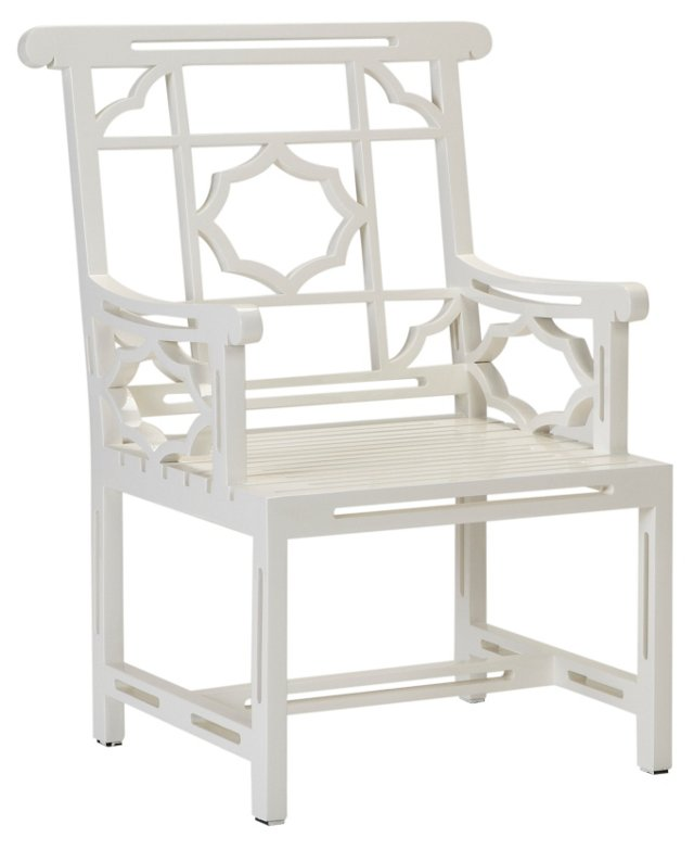 Balcony Armchair, Orchid White