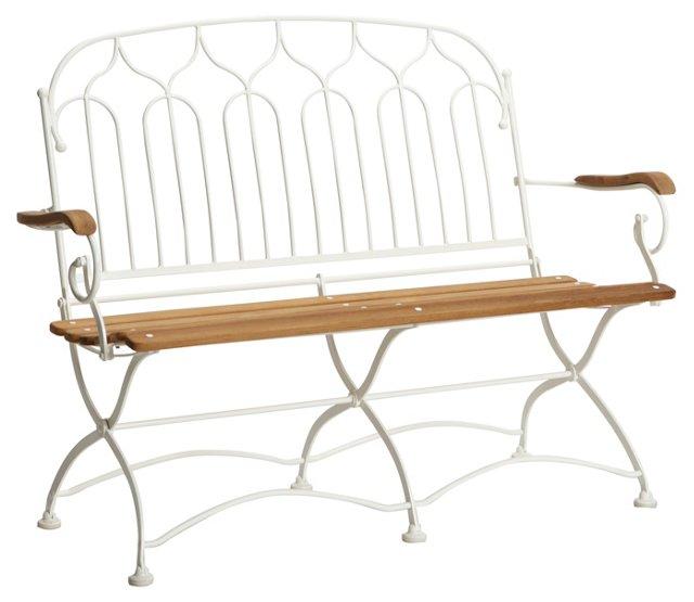 Vienna 2-Seater Bench, White