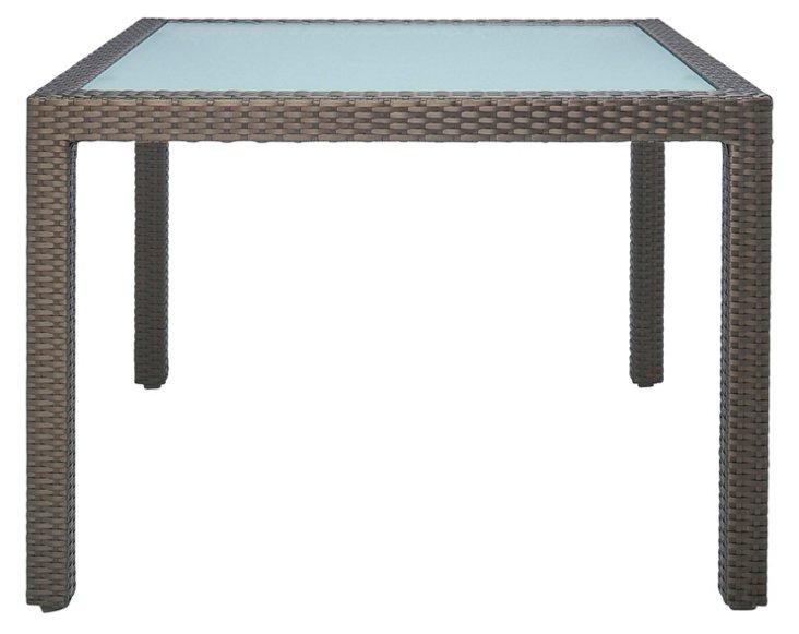 "Ascona 39"" Square Dining Table, Bronze"