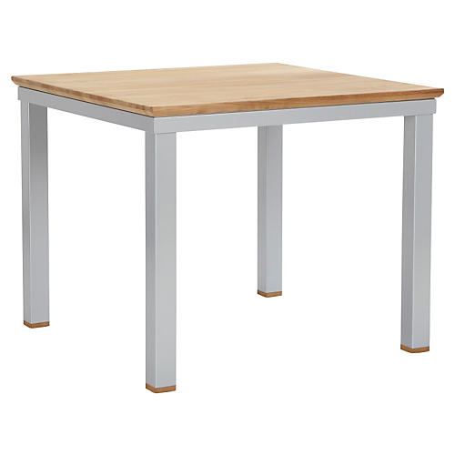 Alu Dining Table, Silver/Natural