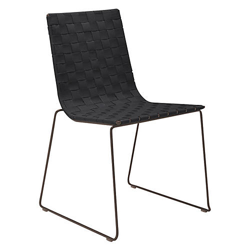 Trenza Side Chair, Earth/Graphite