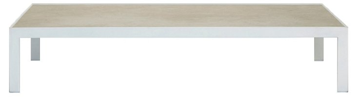 """Sand 51"""" Cocktail Table, White/Sand"""
