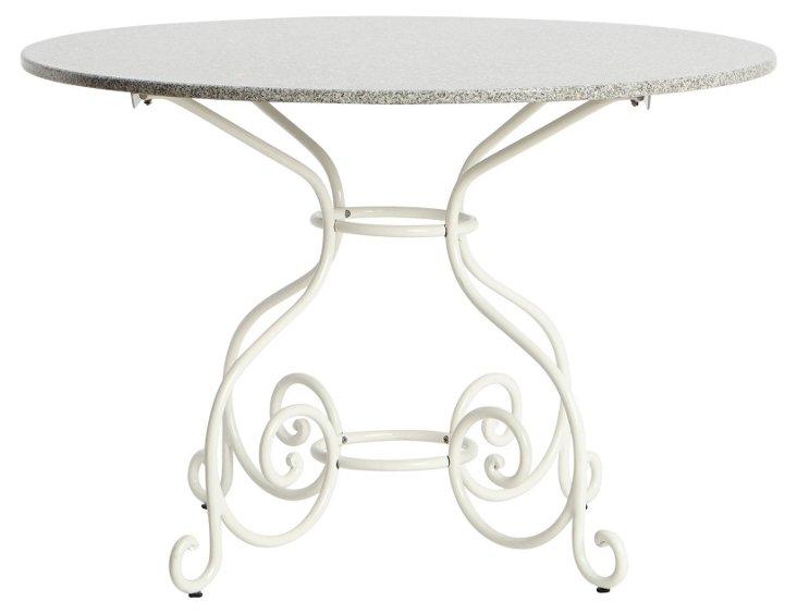 "Classic Vienna 43""Dia Table, White"