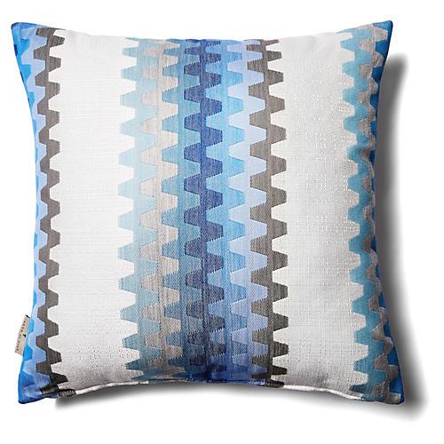 Zip 18x18 Outdoor Pillow, Blue