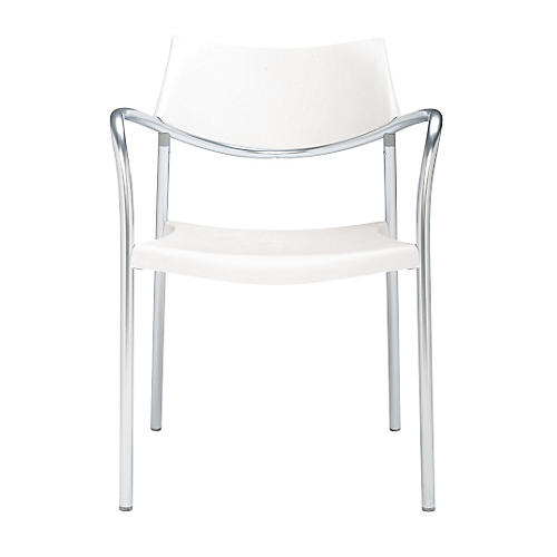 Splash Armchair, Silver/White