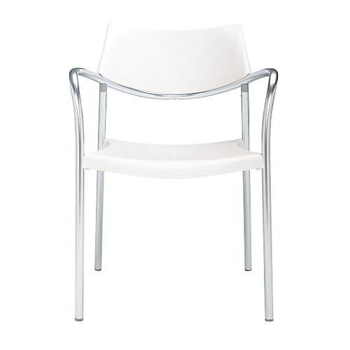 Splash Armchair, Silver/White
