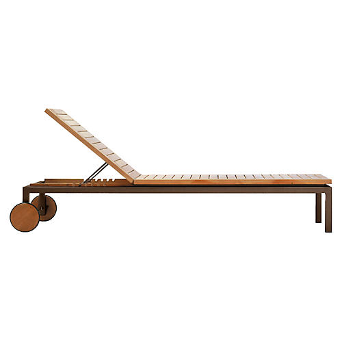 Natal Alu Adjustable Chaise, Earth/Natural