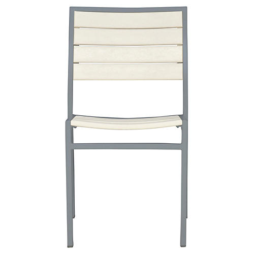 Koko Side Chair, Gray/White