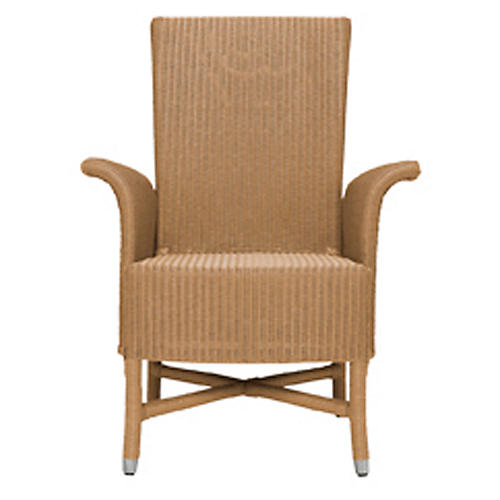 Orleans Armchair, Natural/Chrome