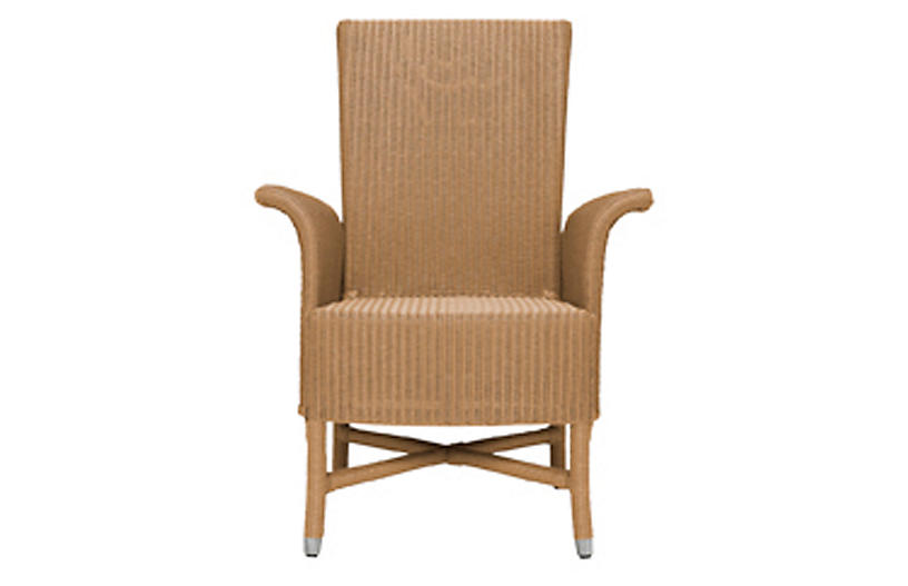 Orleans Armchair, Natural/Chrome
