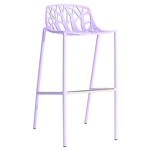 Forest Low-Back Barstool, Lilac