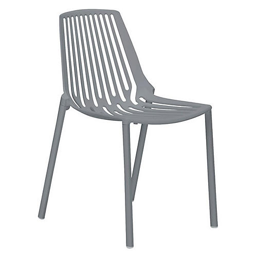 Rion Side Chair, Silver
