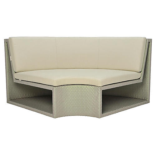 Open Curved-In-Wide Module, Beige