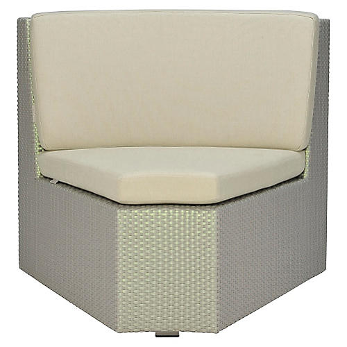 Closed Curved-In Module, Beige