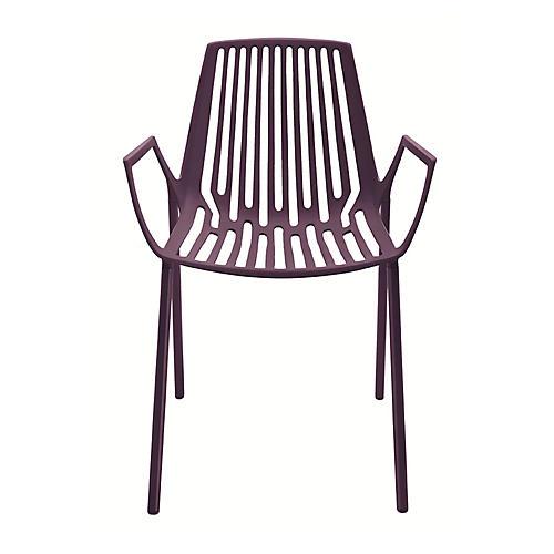 Rion Armchair, Plum