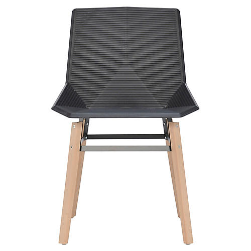 Hypnos Outdoor Side Chair, Natural/Black