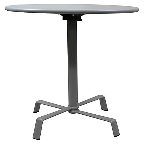 Elica Flip-Top Dining Table, Silver