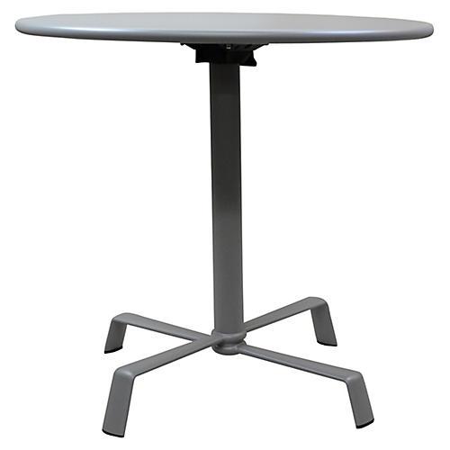 Elica Flip-Top Dining Table, Silver