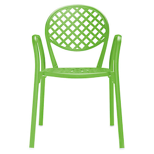 Europa Armchair, Acid Green