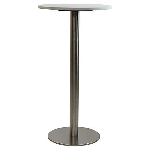 Oasis I Round Bar Table, Gray/Ivory