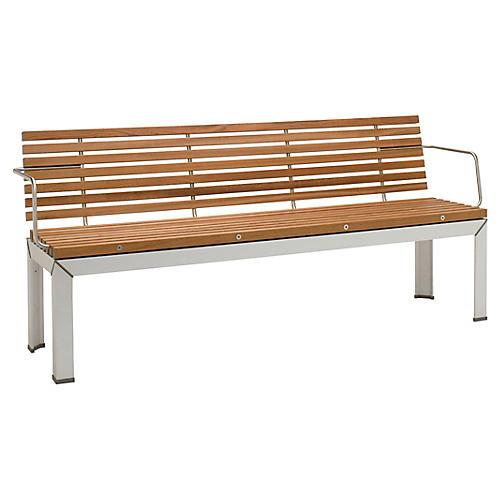 Ex Tempore Bench, Silver/Natural