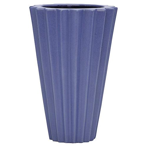 """9"""" Arris Vase, Cobalt"""