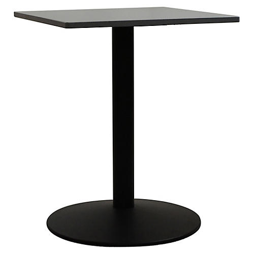Tonda I Square Outdoor Bistro Table, Black/Gray
