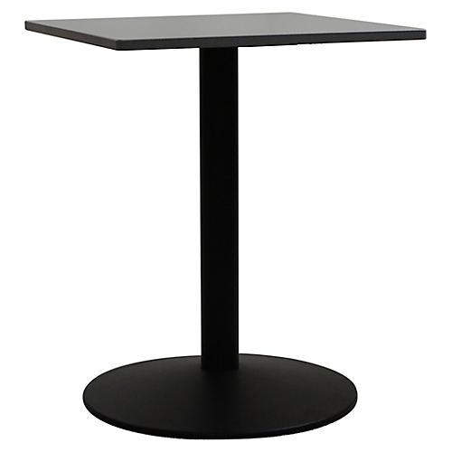 Tonda I Square Outdoor Bistro Table, Black/Gray
