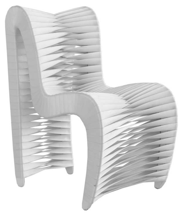 Seat-Belt Dining Chair, White