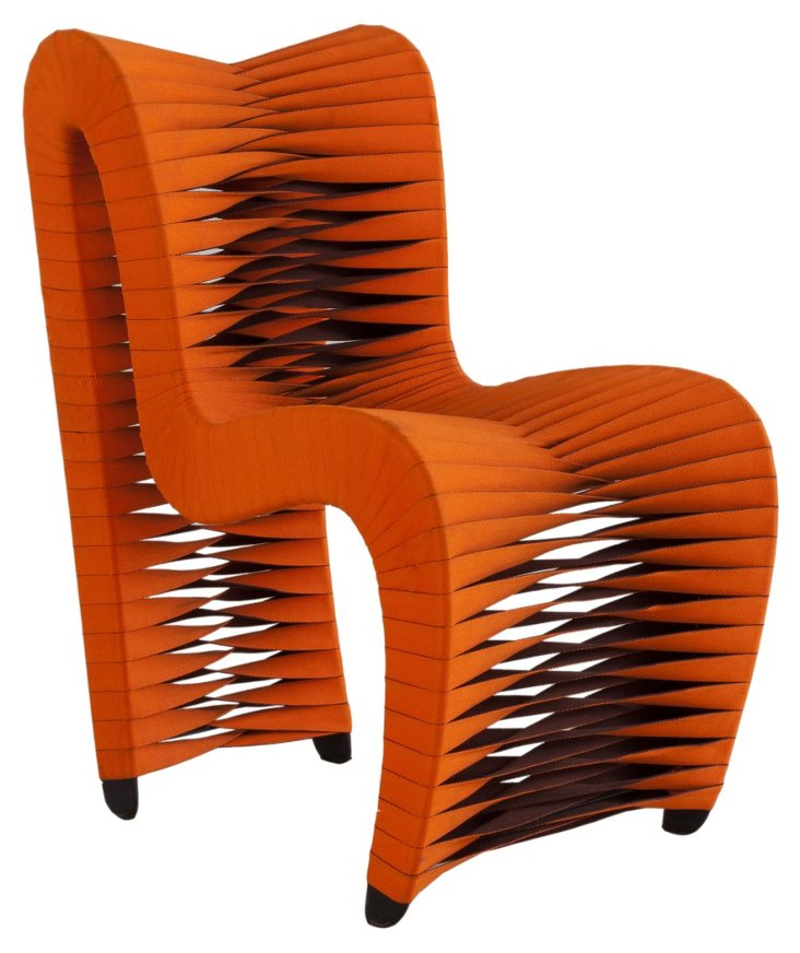 Seat-Belt Dining Chair, Orange