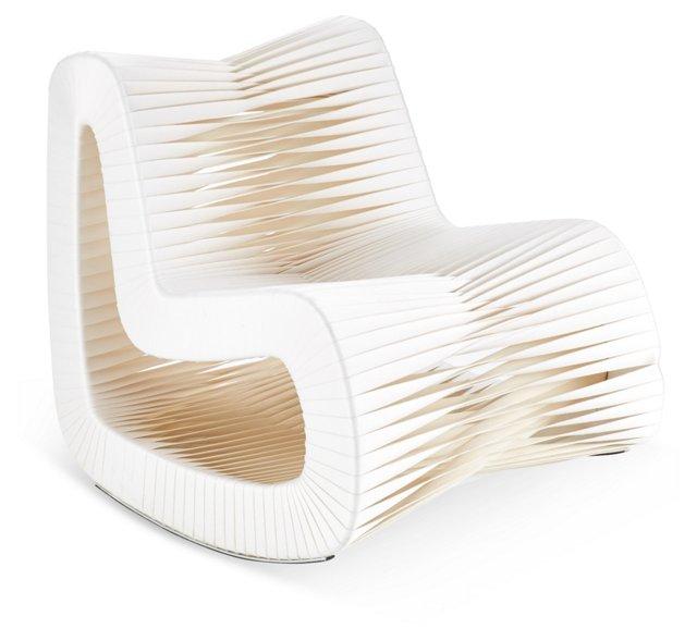 Seat-Belt Rocking Chair, White