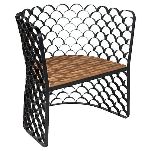 Koi Chair, Teakwood