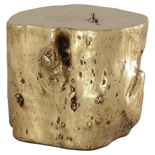 Large Log Stool, Gold