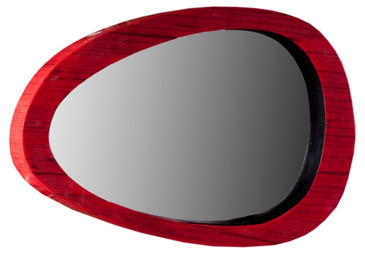 Bamboo Mirror, Red