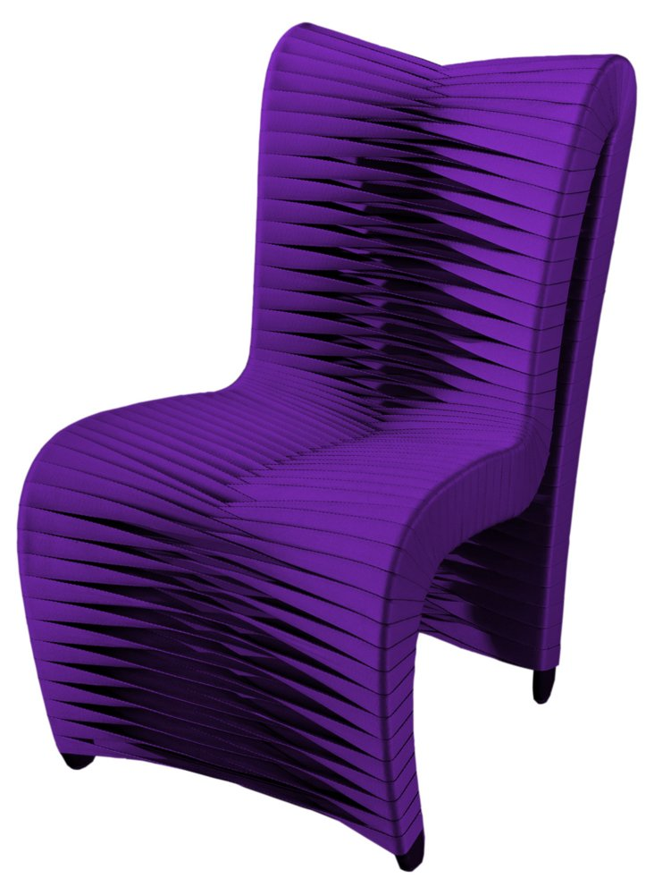 High Back Seat-Belt Dining Chair, Purple