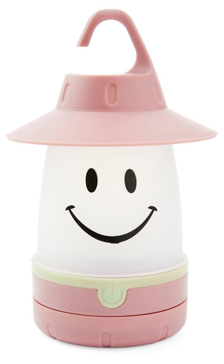 S/2 Smile Led Lantern, Peach