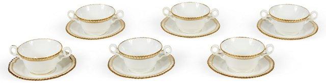 Spode Cups & Saucers, Set of 6