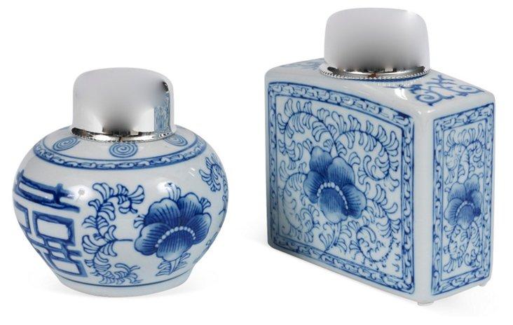 Chinese Tea Caddies, Set of 2, II