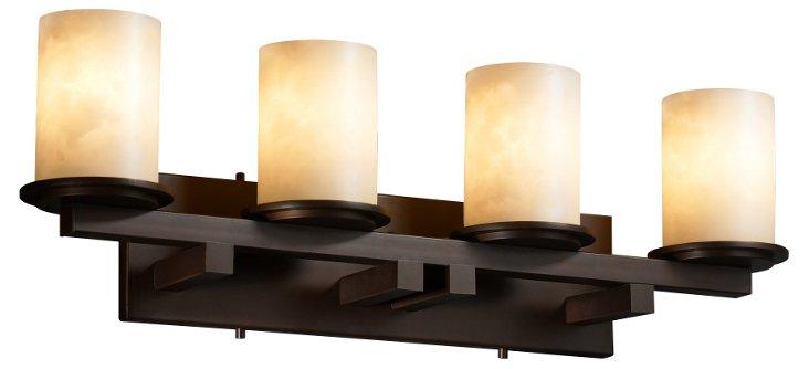 Carolina 4-Light Bath Bar, Bronze