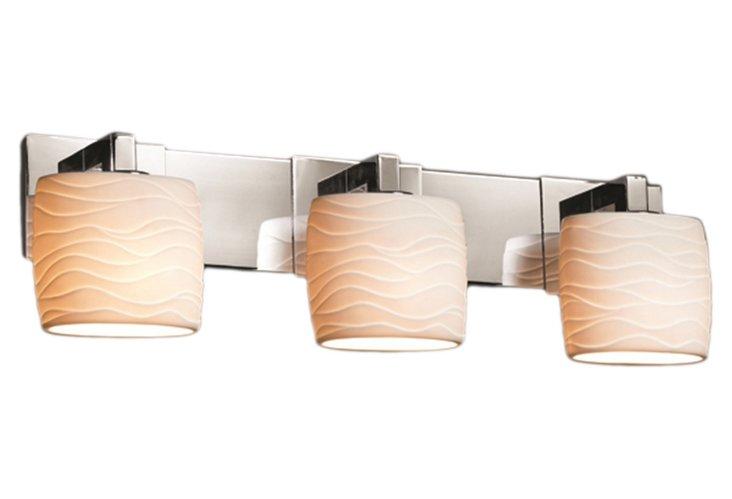 Vienne 3-Light Bath Bar, Chrome