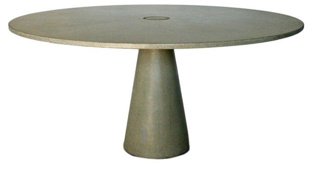 Round Locking Dining Table, Stone