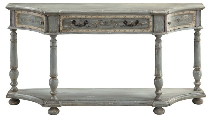 Tullulah Console Table, Distressed Gray