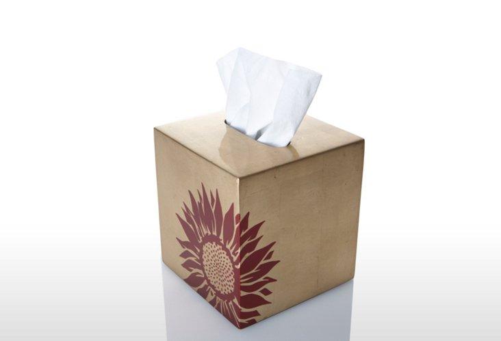 Tissue Box, Sunflower