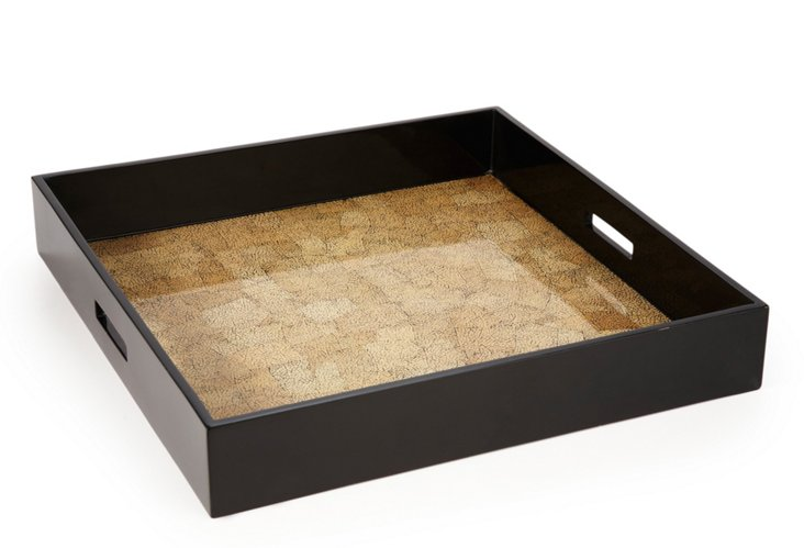 Lacquer Ottoman Tray, Desert Sand