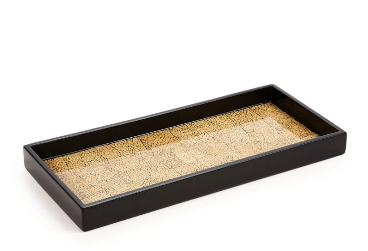 2-Drink Lacquer Tray, Desert Sand
