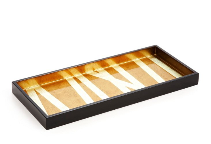 2-Drink Lacquer Tray, Grass Styx