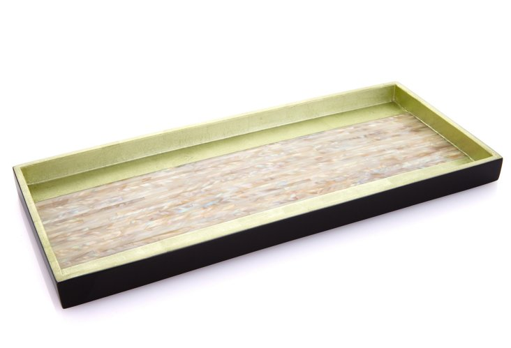 Lacquer MOP Cocktail Tray, Iced Green