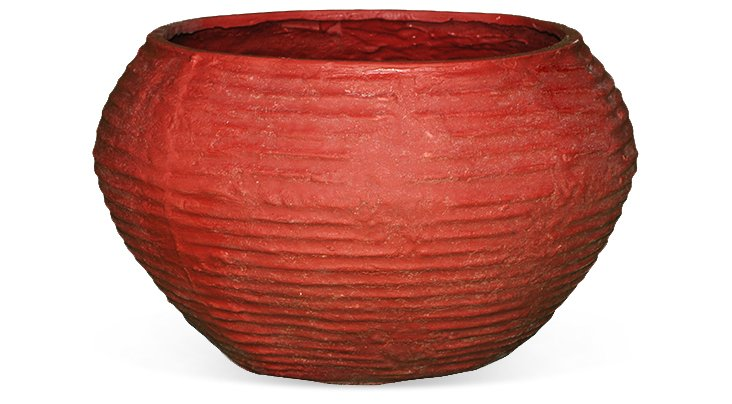 """16"""" Beehive Planter, Red"""